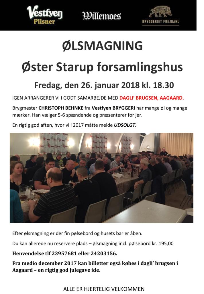Ølsmagning i forsamlingshuset @ Øster Starup Forsamlingshus   Egtved   Danmark