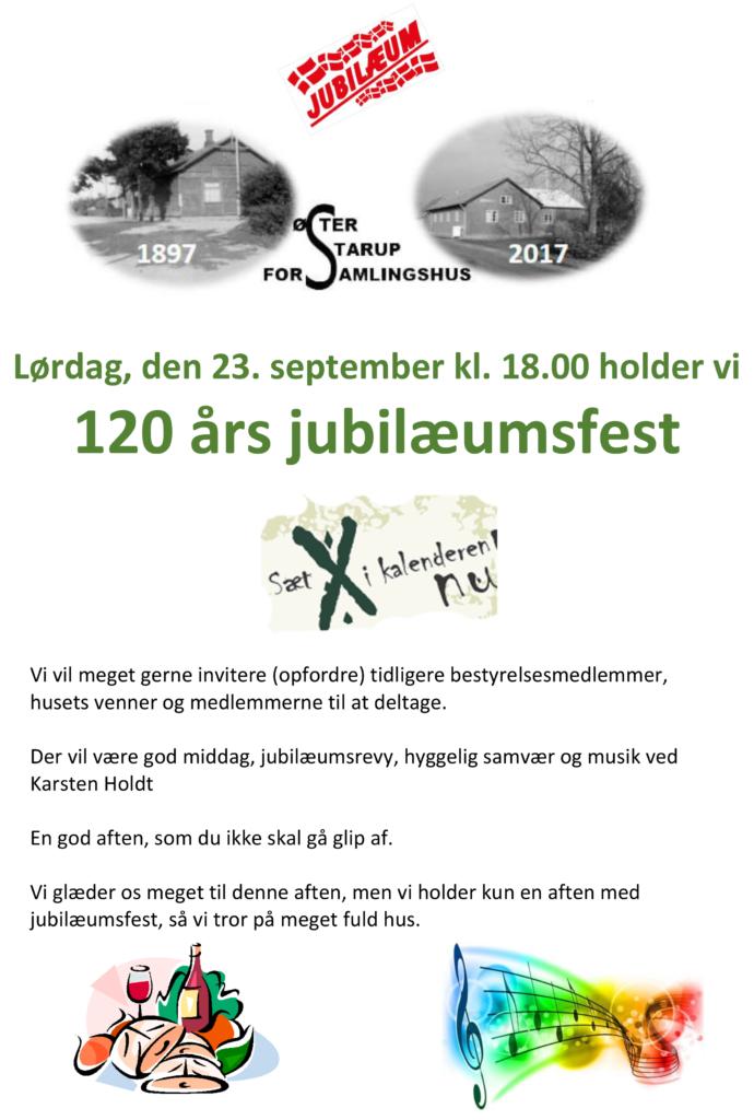120 års jubilæumsfest @ Øster Starup Forsamlingshus | Egtved | Danmark