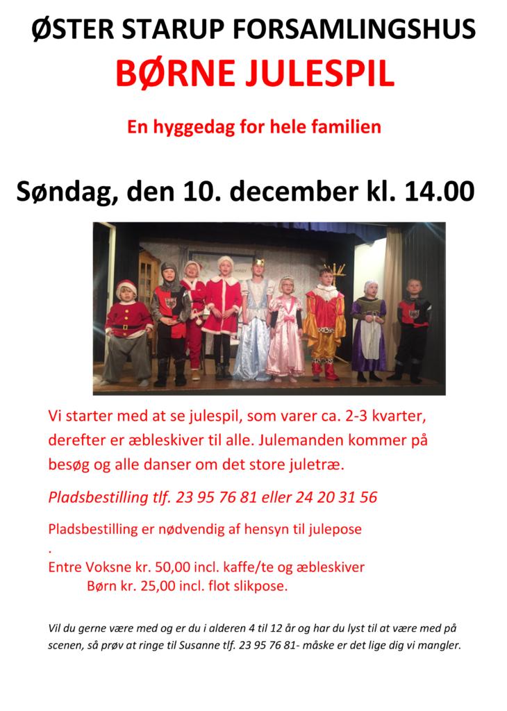Børne Julespil @ Øster Starup Forsamlingshus | Egtved | Danmark