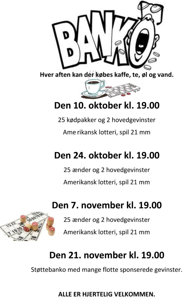 Banko @ Øster Starup Forsamlingshus | Egtved | Danmark